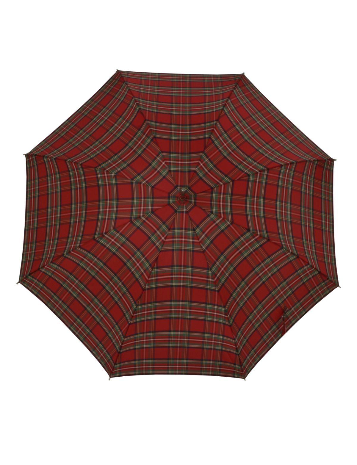 Doppler Regenschirm, Langschirm rot »Carbonstee...