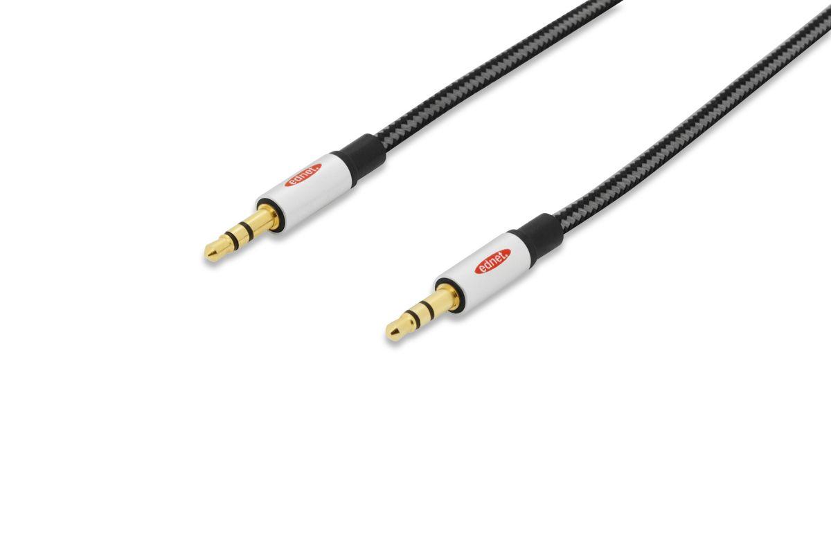 Vorschaubild von Ednet TV/Video/Audio »Audio Anschlusskabel, stereo 3.5mm, St/St, 1.5m«