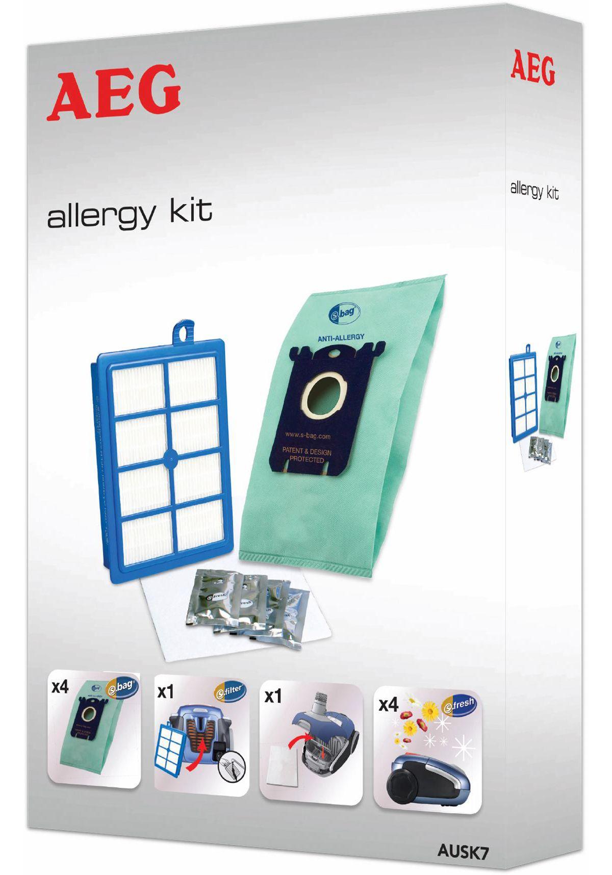 AEG Staubbeutel Vorteil-Set AUSK7 für VX6, VX7