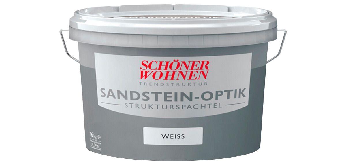 Schöner Wohnen Farbe Strukturspachtel »Sandsteinoptik 16,0Kg grau«