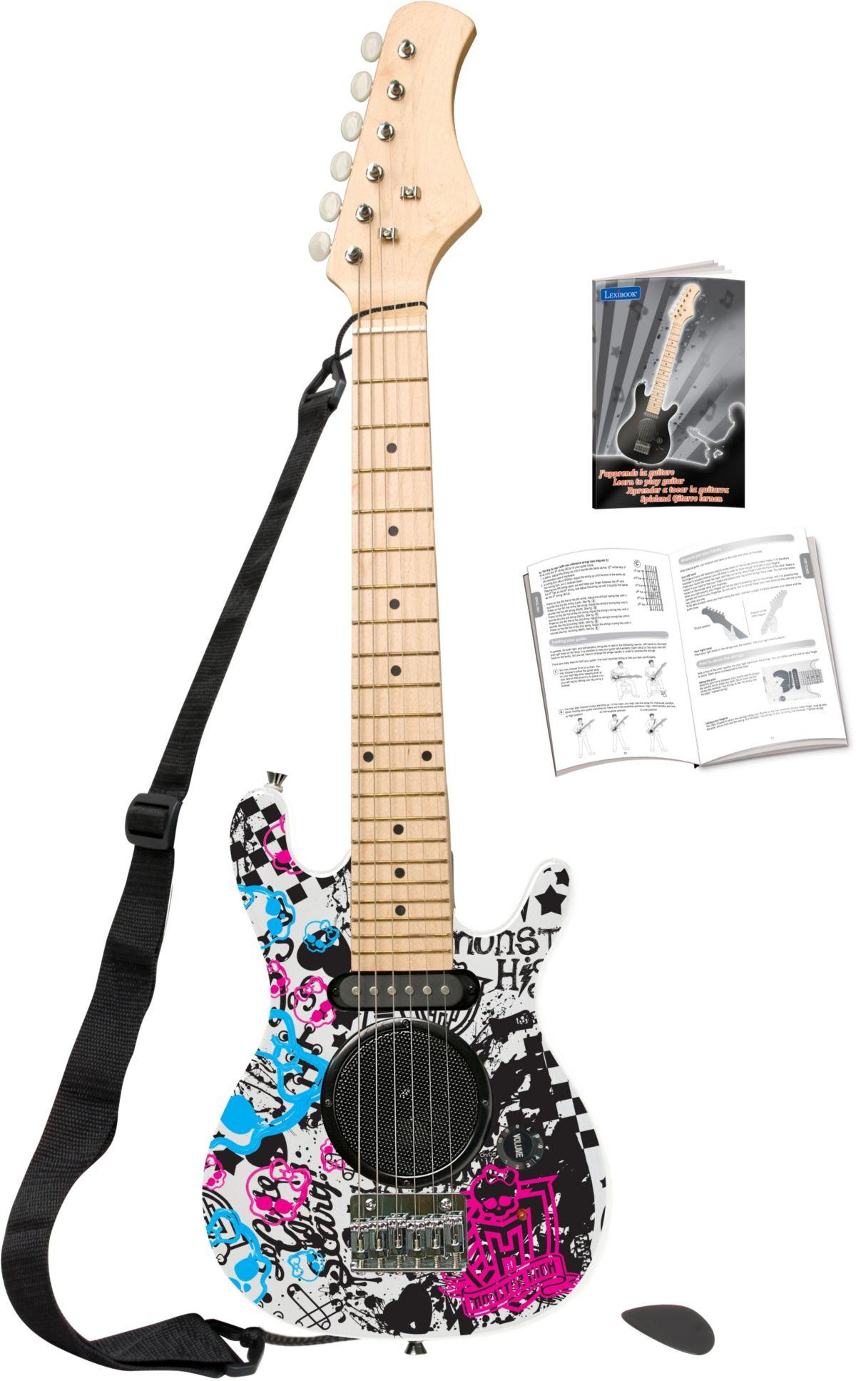 Lexibook Elektrische Kindergitarre mit eingebautem Lautsprecher Monster High