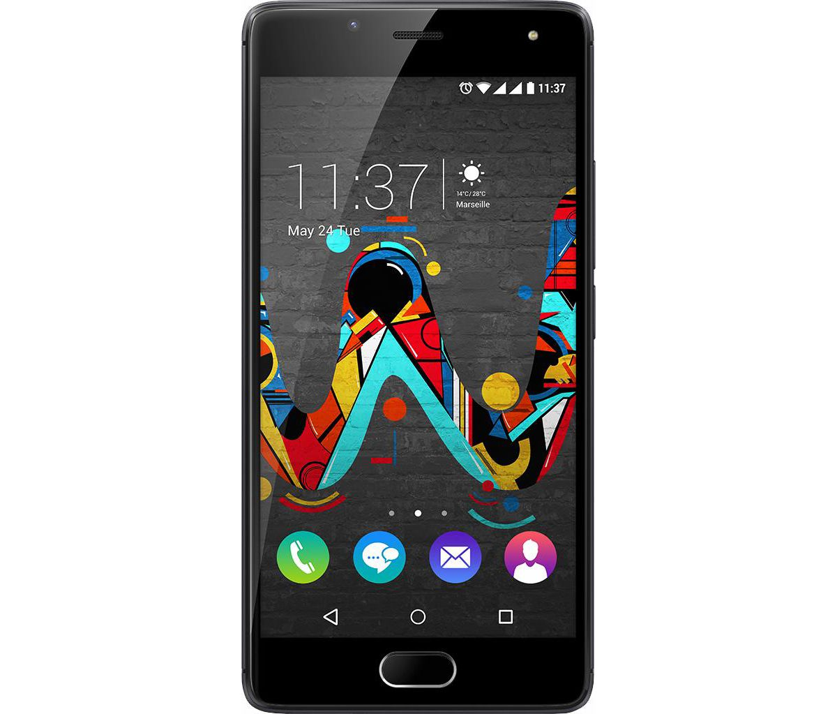 Wiko U Feel Smartphone, 12,7 cm (5 Zoll) Displa...