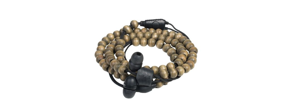 Midbass Headset »Natural Wooden Beads Wrap Waln...