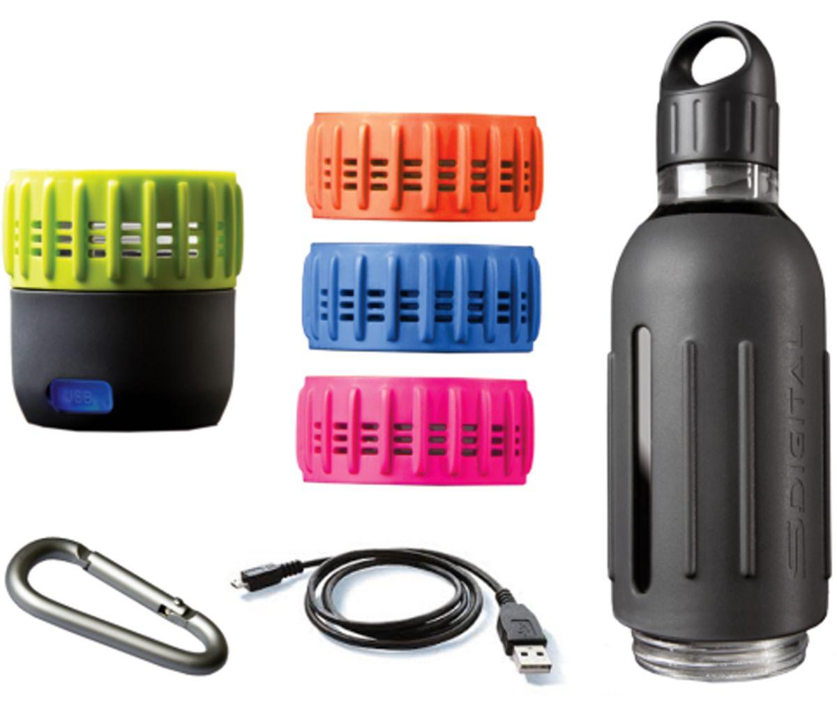 SDigital Trinkflasche mit 360° Sound, »Spritz -...