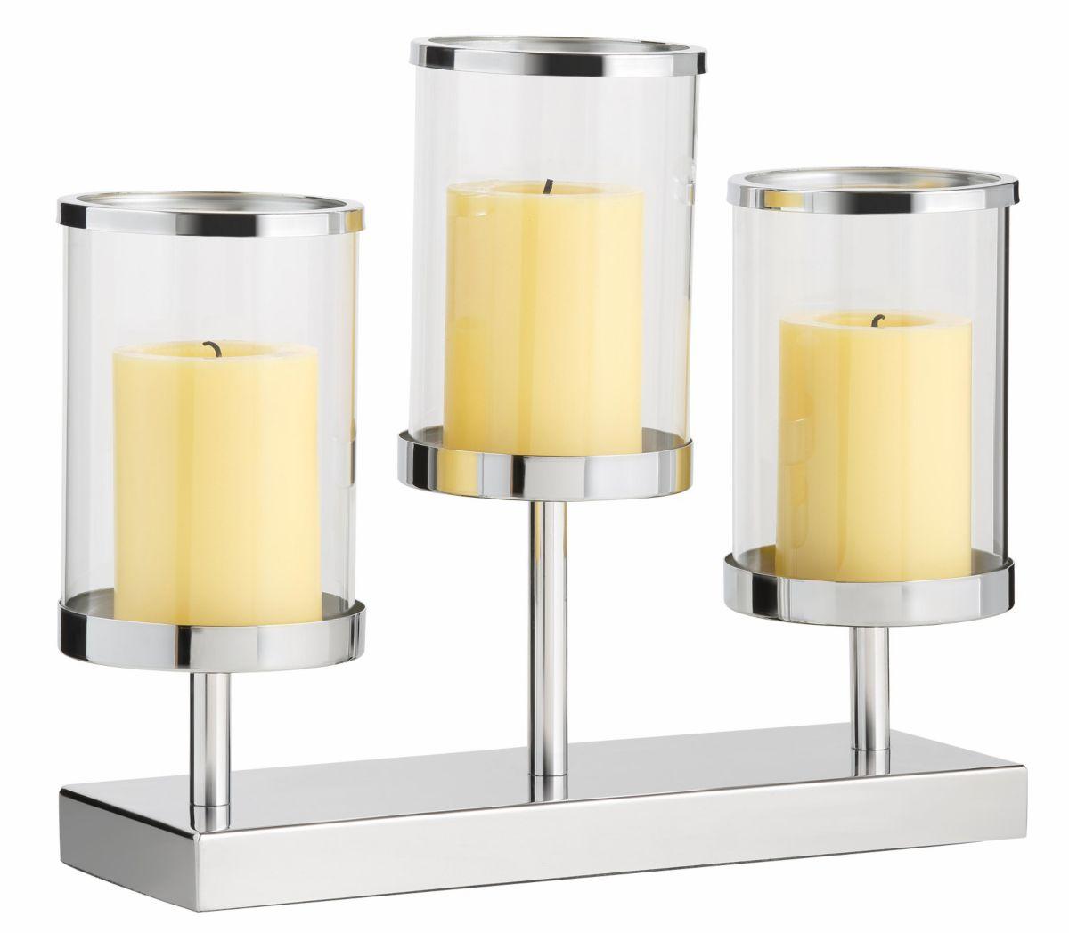 Home affaire Windlicht mit 3 Glasaufsätzen
