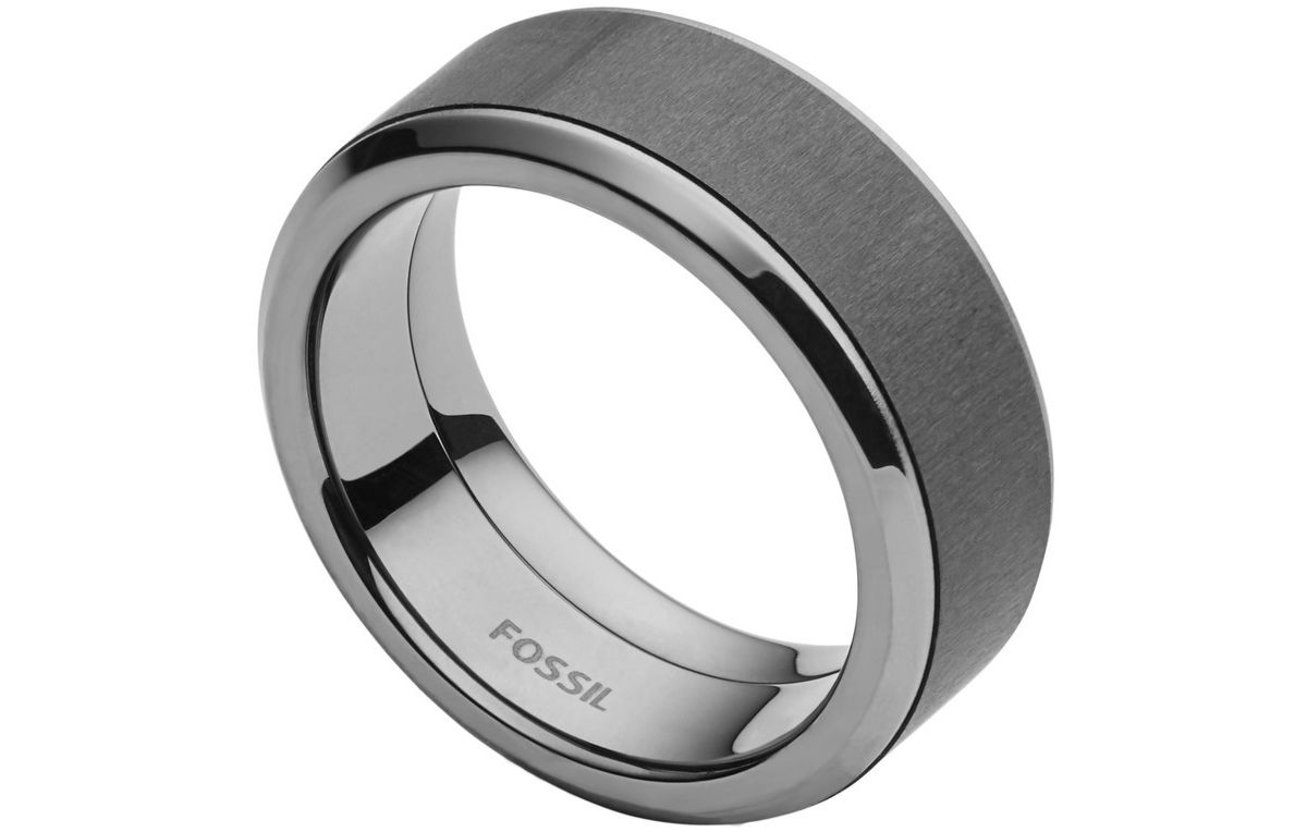 Fossil Ring mit Carbon, »Mens Dress, JF02368793«