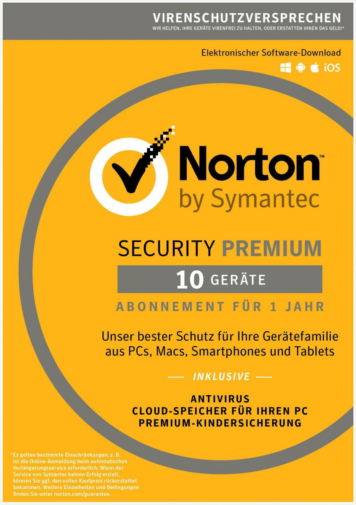 Norton Security Premium 3.0 »1 Benutzer, 10 Ger...