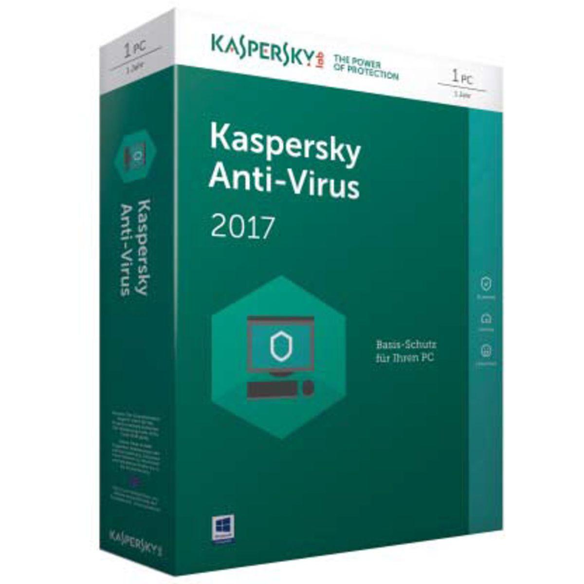 Kaspersky Sicherheits-Software »Anti-Virus 2017 Mini-Box 1 User«