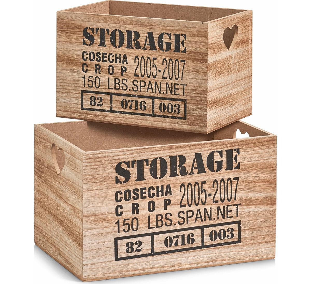 Home affaire Aufbewahrungs-Kiste »Storage« (2-t...