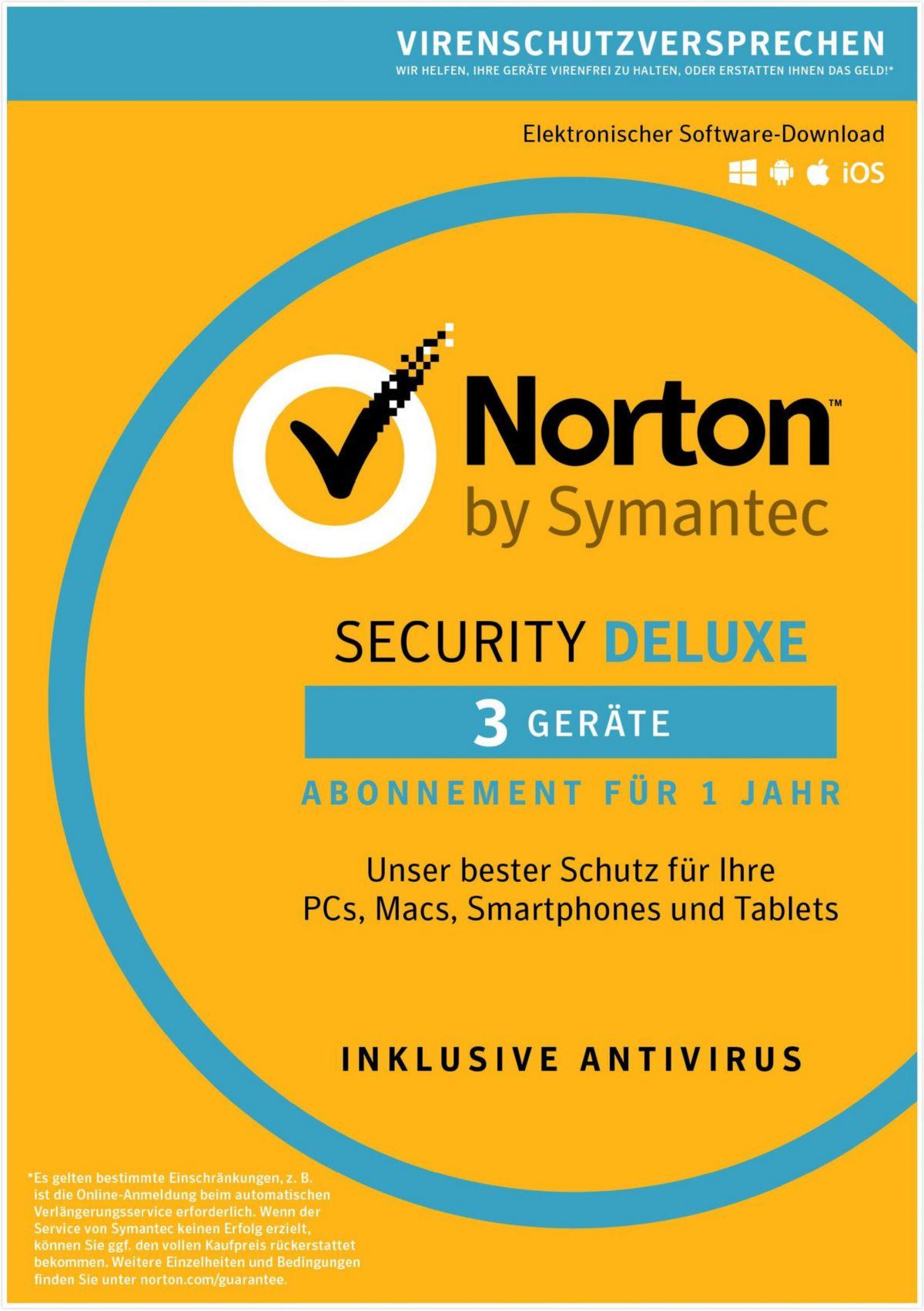 Norton Security Deluxe 3.0 »1 Benutzer, 3 Geräte«