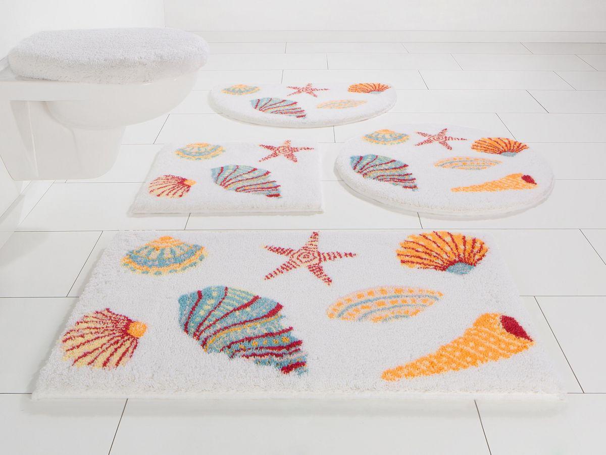 Badematte, Grund, »Seashells«, Höhe 20 mm, ruts...