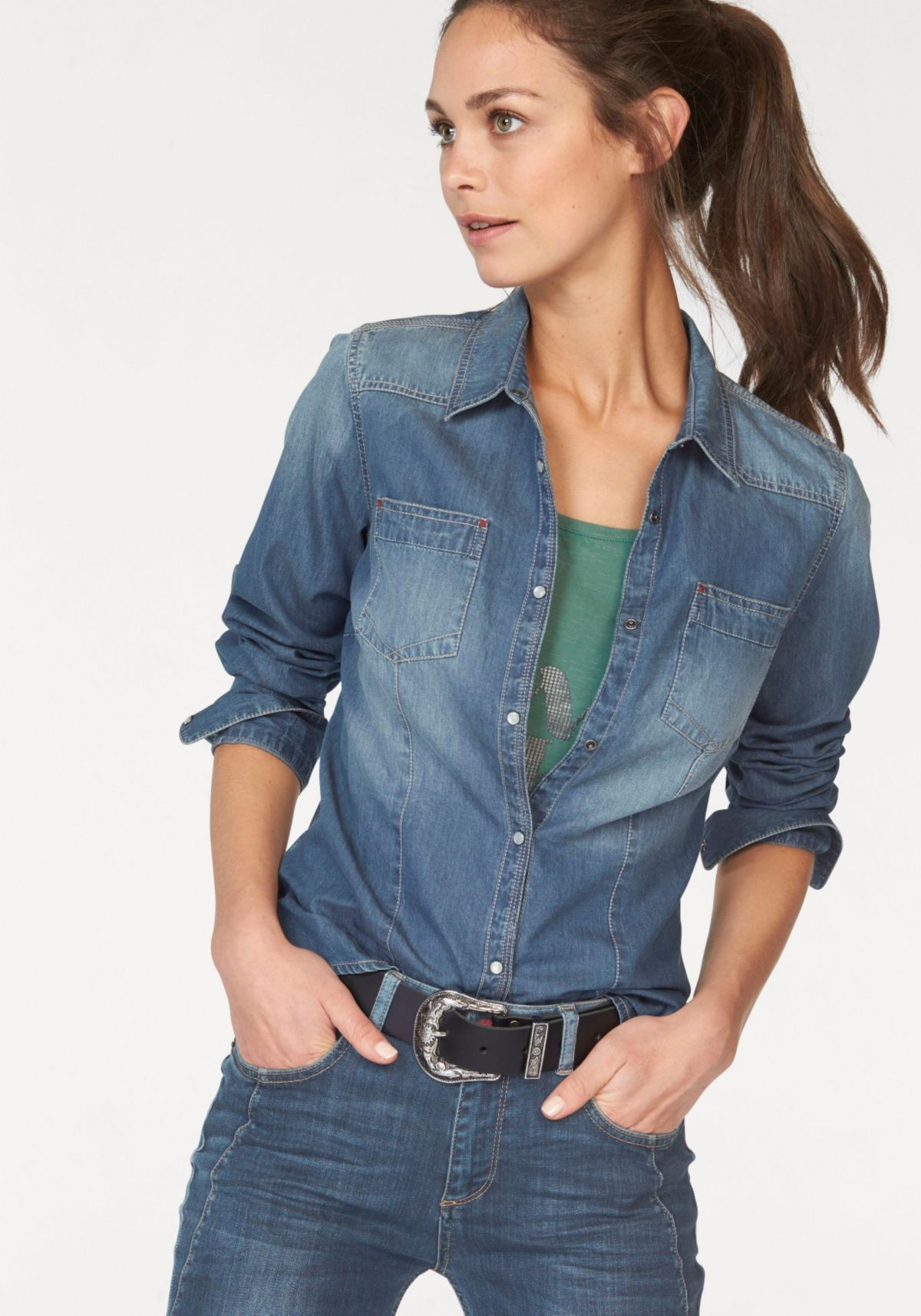 H.I.S Jeansbluse