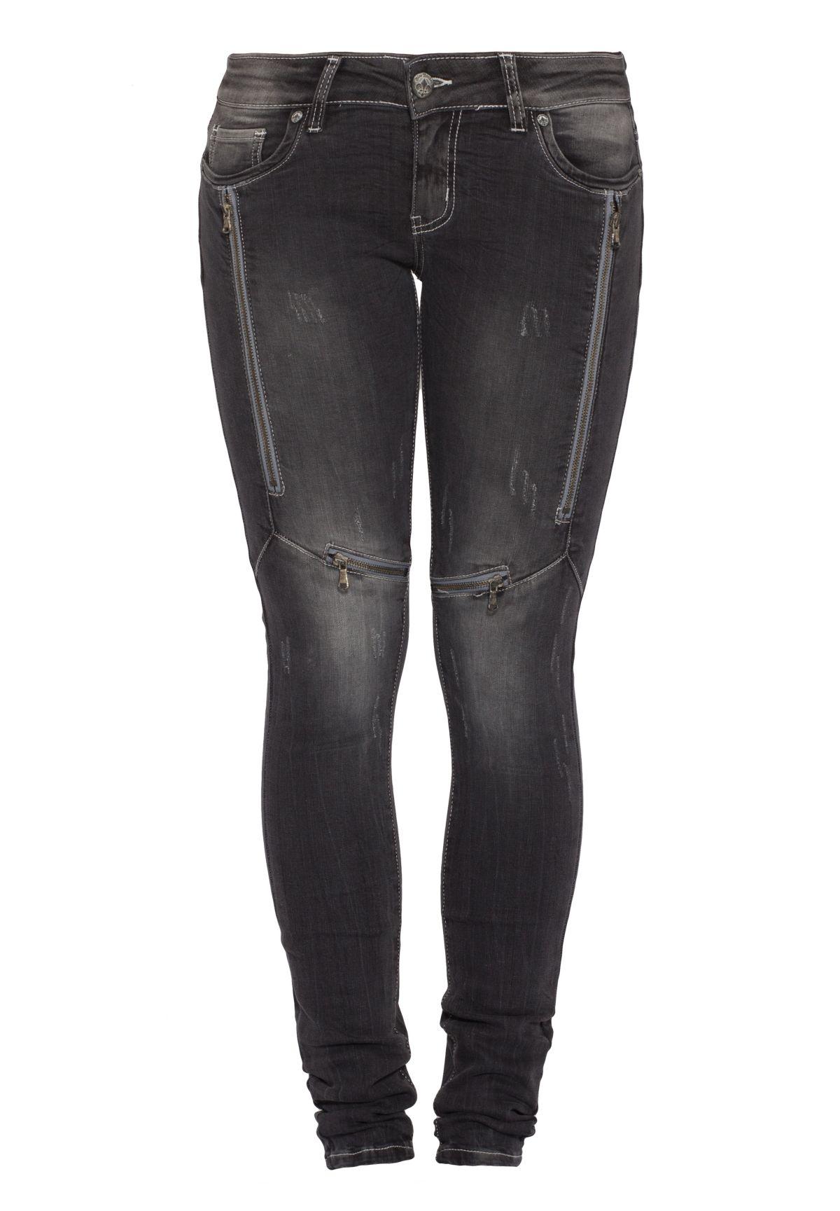 Blue Monkey Skinny-fit-Jeans »Lucy 1108« von Schwab Versand in black - Schwarz für 79,95€