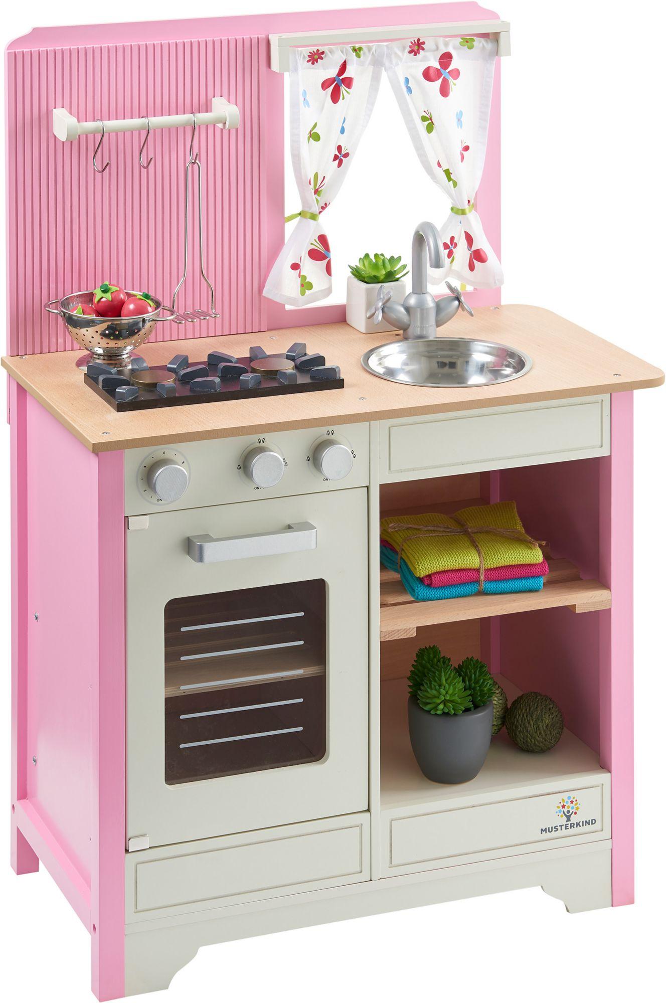 MUSTERKIND® Spielküche Aus Holz, »Lavandula Creme/rosa«