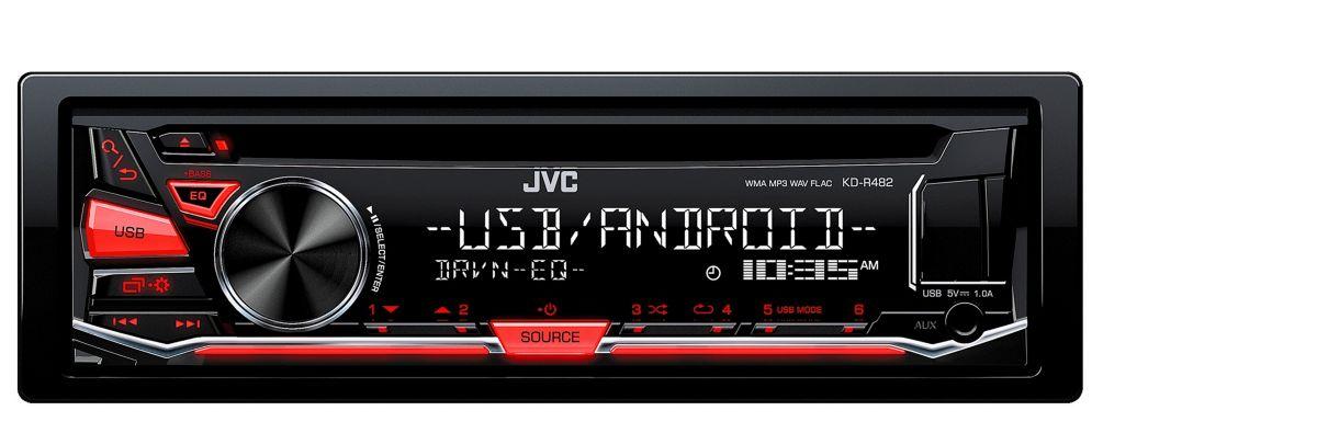 JVC 1-DIN Autoradio mit USB / CD  KD-R482E  Preisvergleich