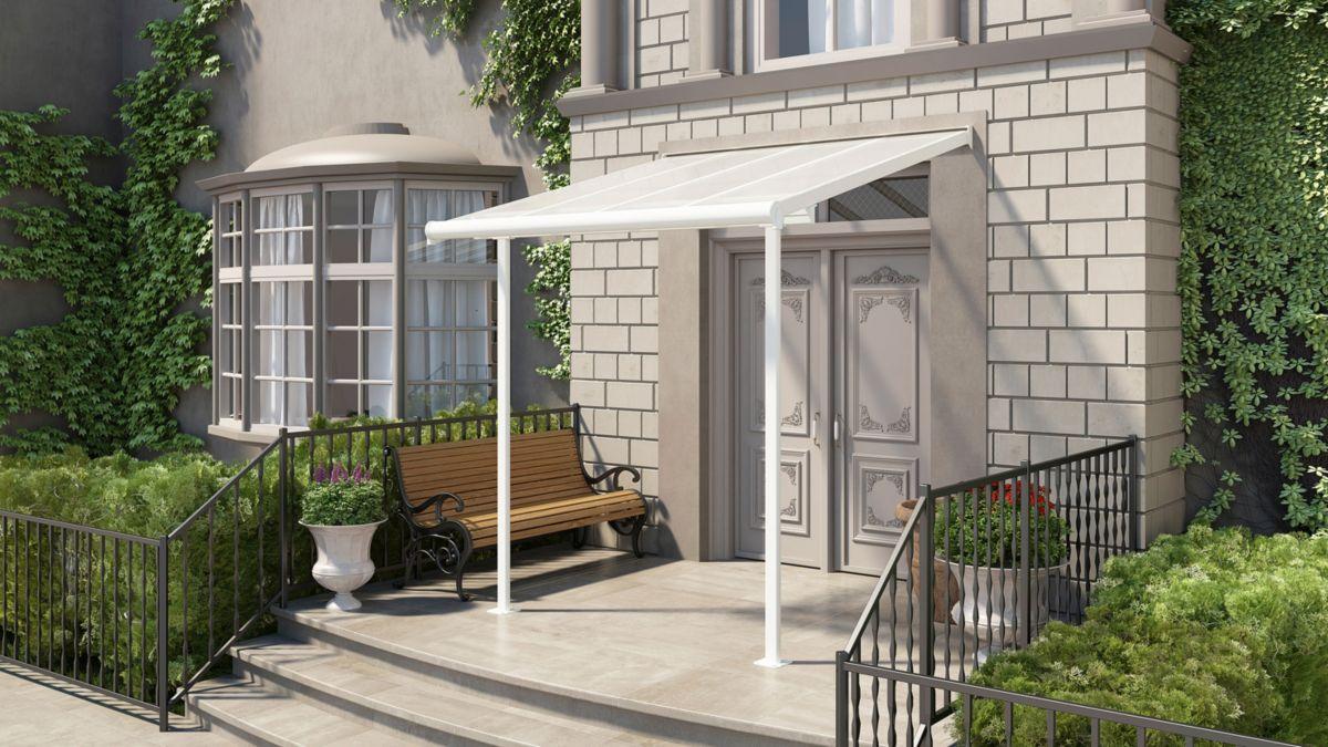 PALRAM Terrassendach , weiß, BxT: 230x230 cm
