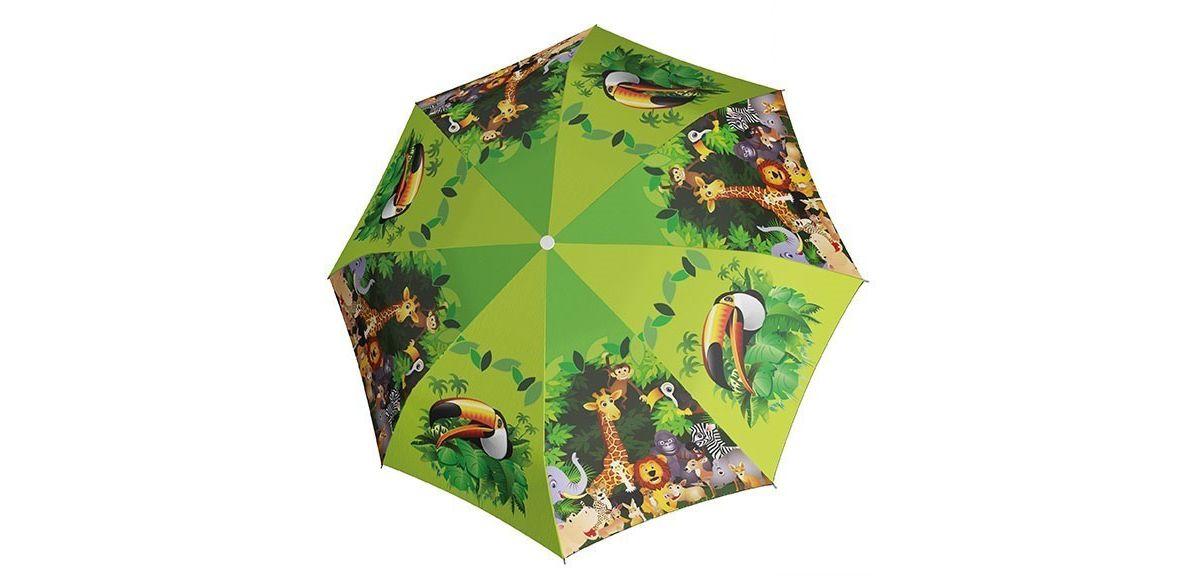 doppler® Regenschirm für Kinder, »Stockschirm Jungle Automatik«