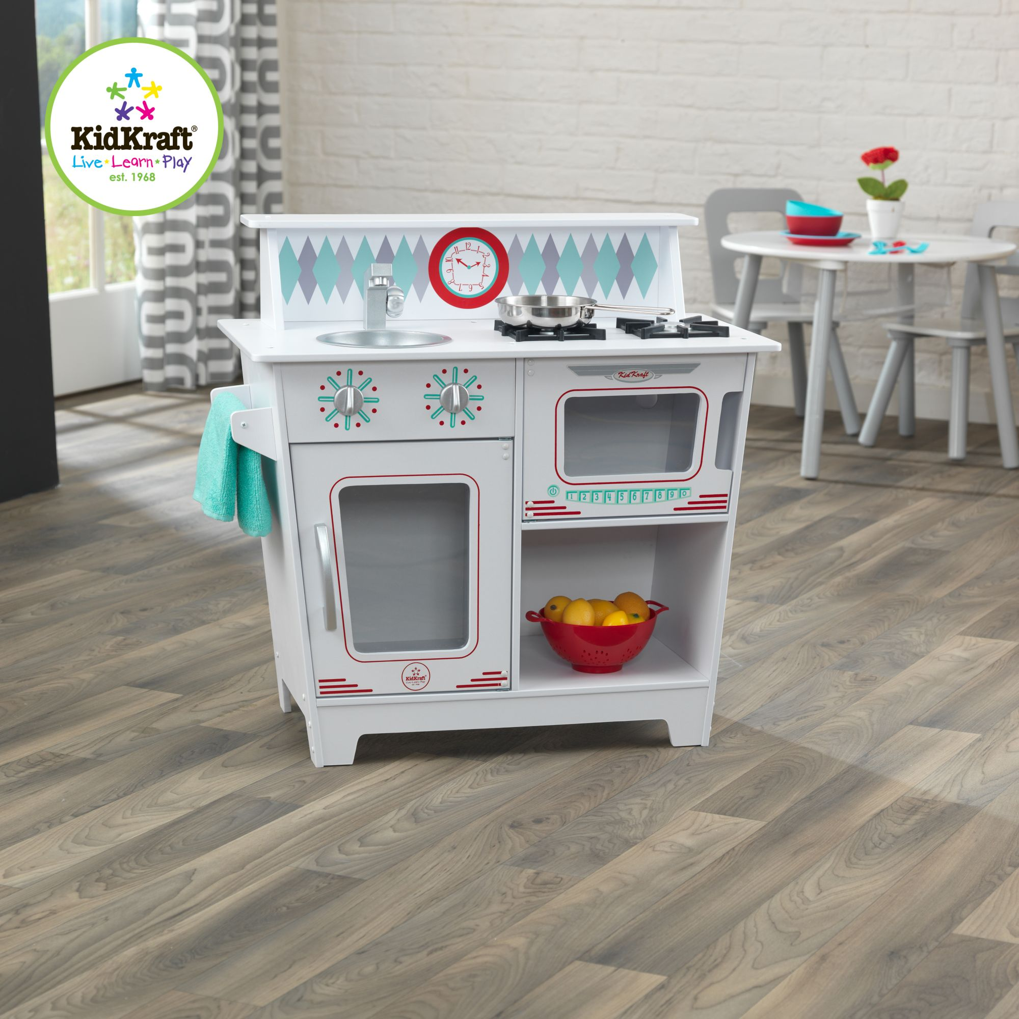 Kidkraft® Spielküche Aus Holz, »Klassische Küche In Wei