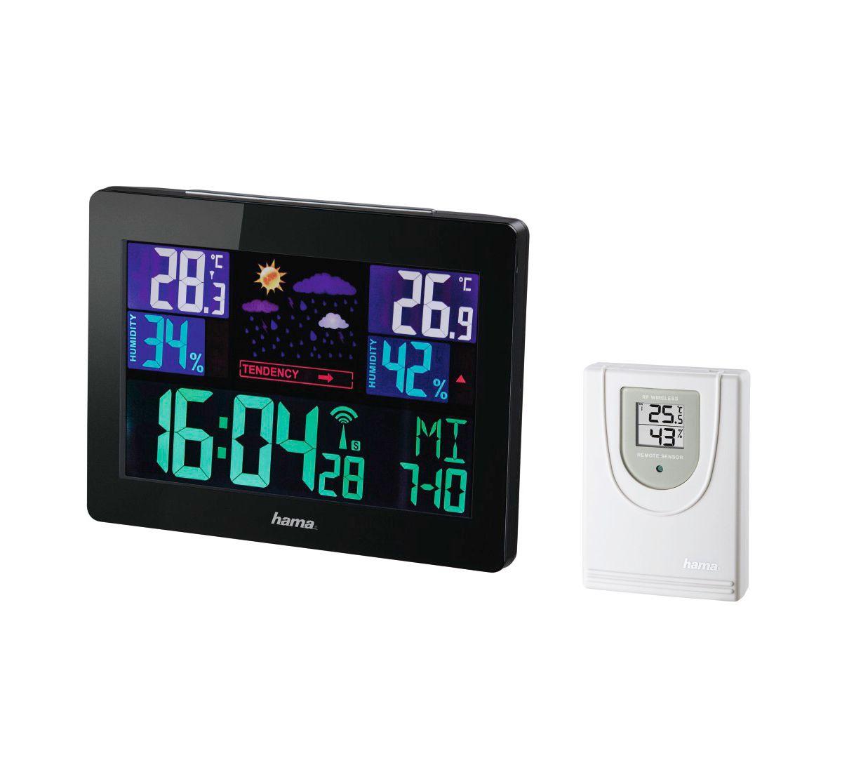 Hama Funk Wetterstation Hygrometer Barometer Th...