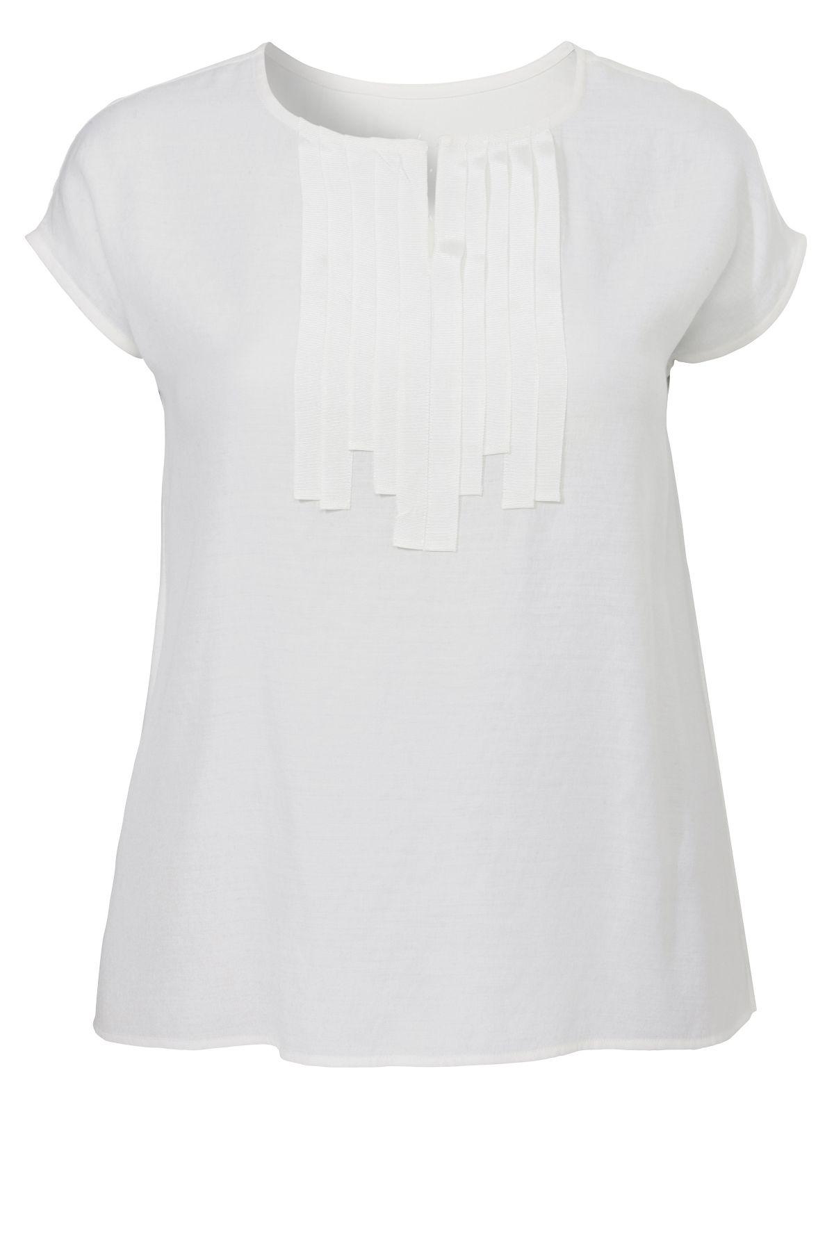 VIA APPIA DUE Monochromes Kombi-Shirt mit dekor...