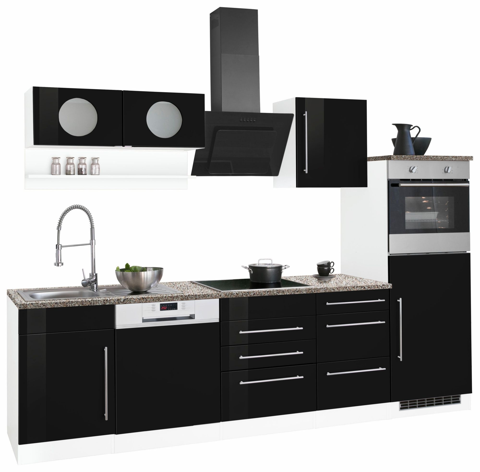 HELD MÖBEL Küchenzeile »Keitum« Ohne E Geräte, Breite 280 Cm