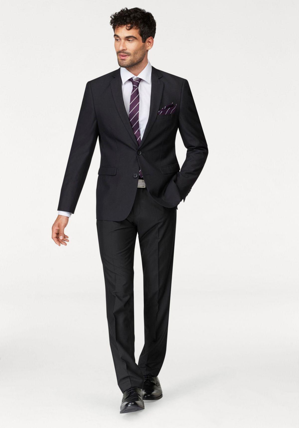 Bruno Banani Anzug (Set, 4 tlg., mit Krawatte und Einstecktuch) Preisvergleich