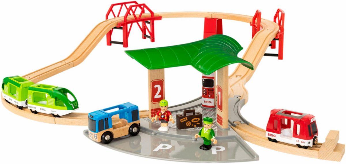 BRIO® Spielset, »Reisezug Set mit Busbahnhof«