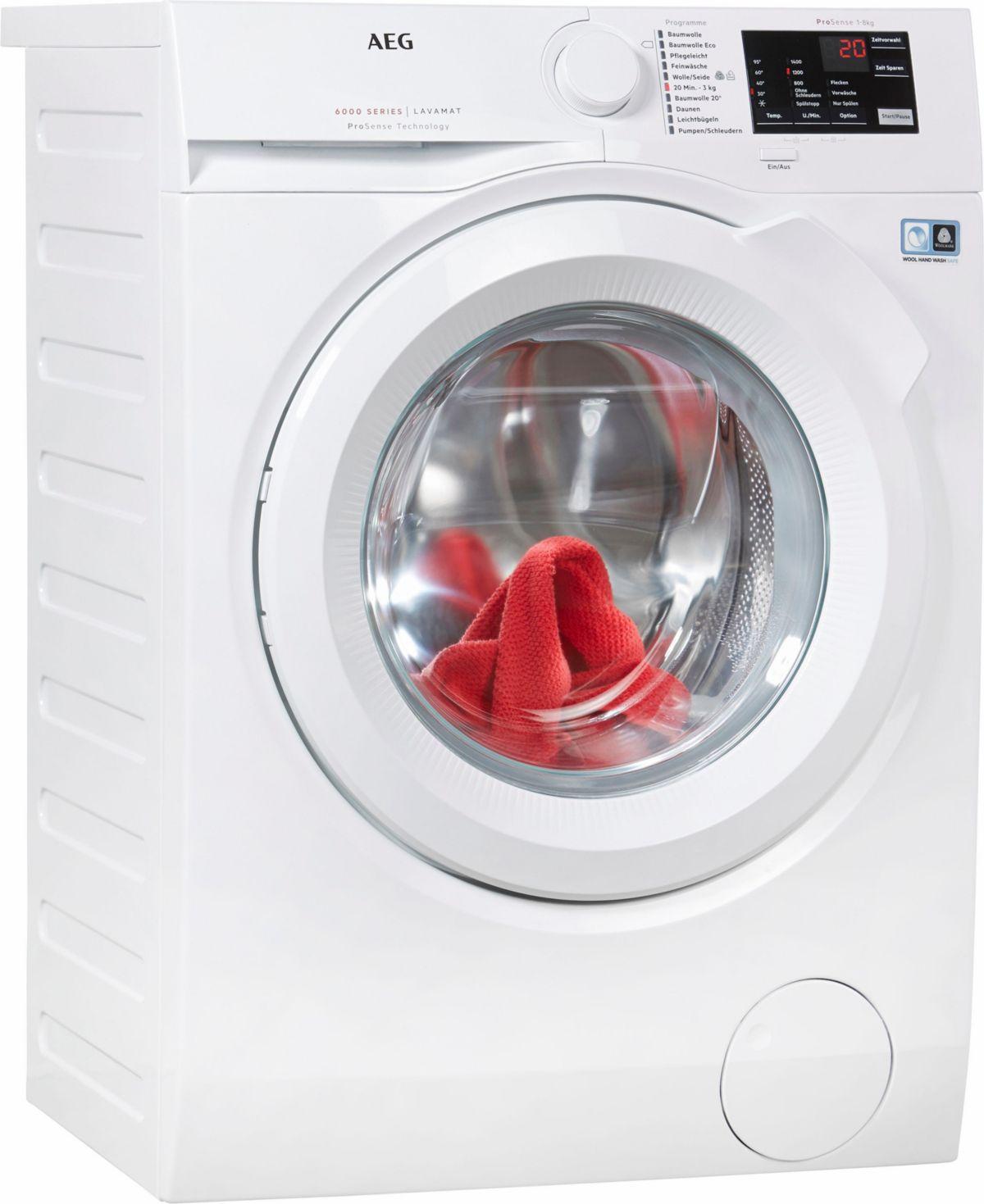 AEG Waschmaschine LAVAMAT L6FB54480, 8 kg, 1400...