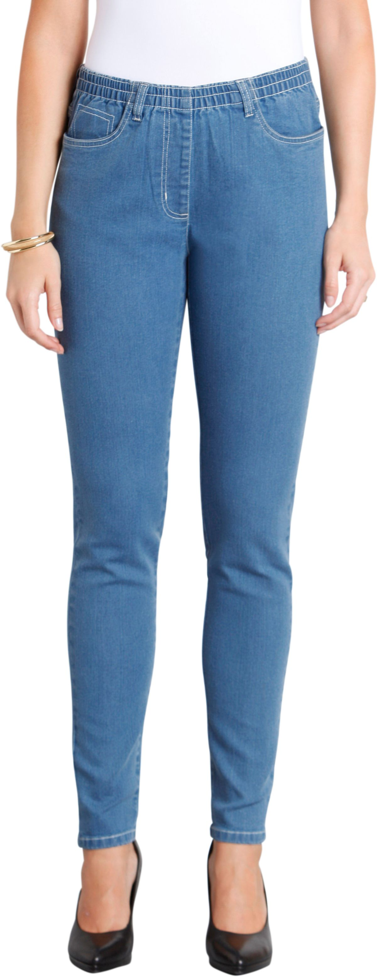 Classic Basics Jeans in bequemer Schlupfform