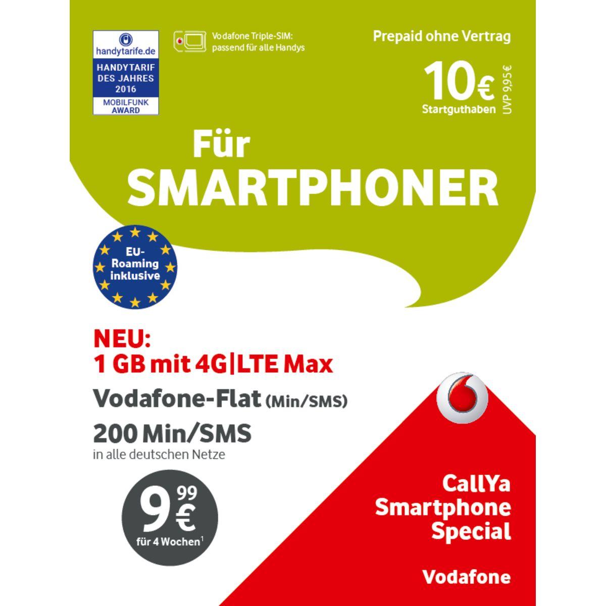 Vodafone CallYa-Prepaid-Karte »Smartphone Spezi...