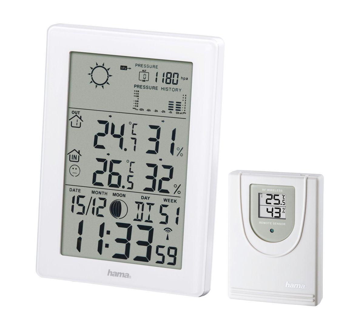 Hama Funk Wetterstation Barometer Hygrometer Vo...