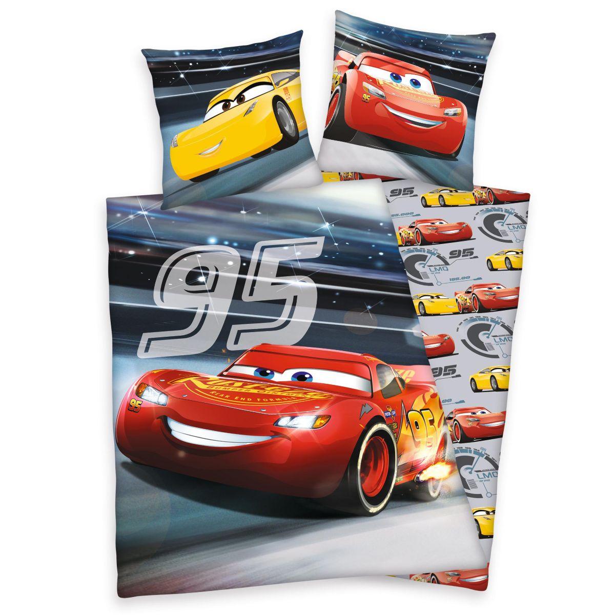 Kinderbettwäsche, Walt Disney, »Cars Rennen«, l...