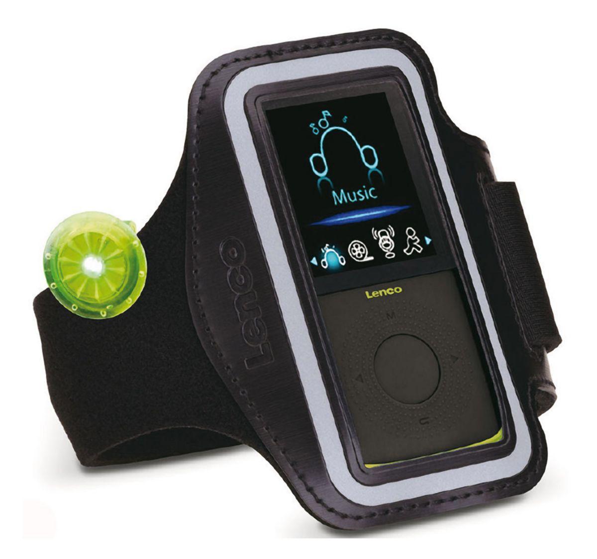 Lenco Fitness / Sport MP3 Player mit Pedometer ...