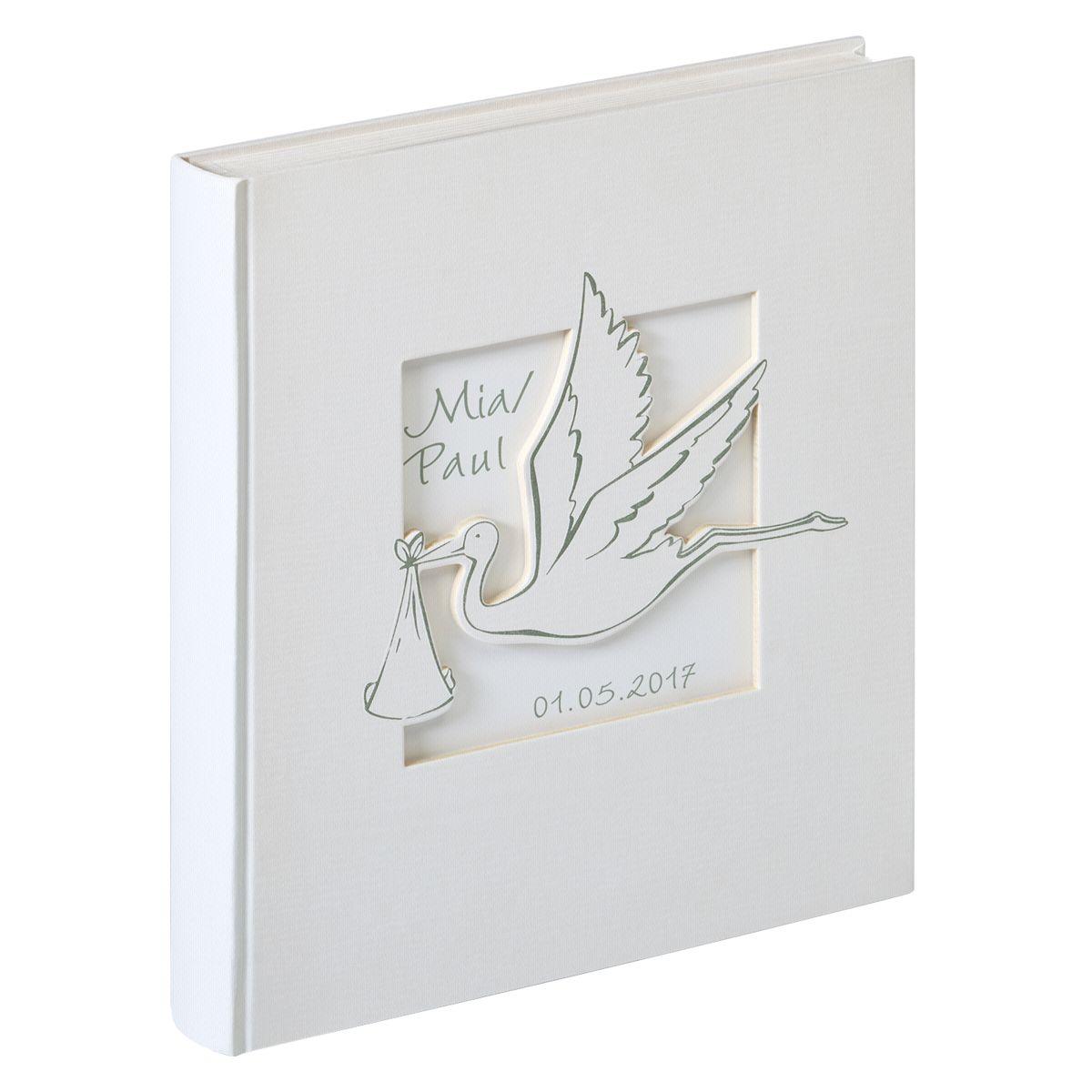 Walther Buch-Album »Cicogna 28x30,5 50 e Seiten Babyalbum UK201«
