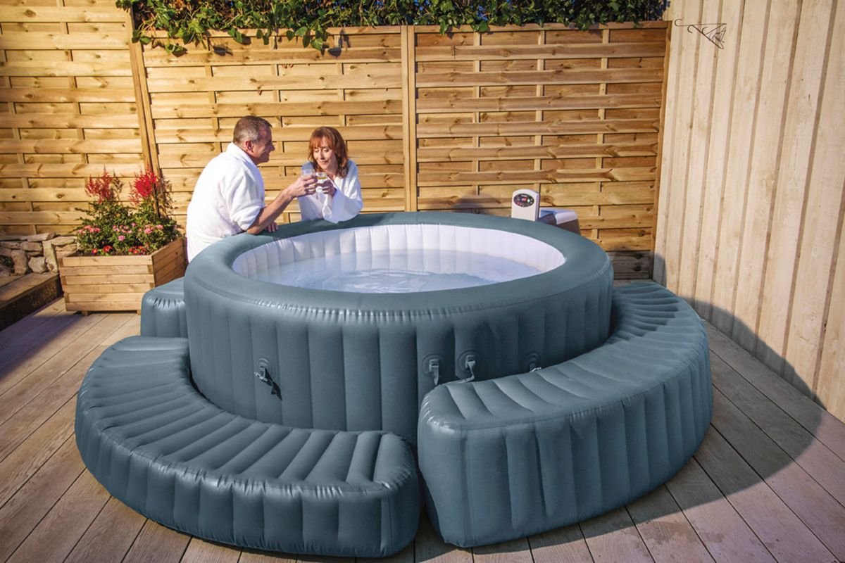 Bestway Pool Treppe Lay Z Spa Aufblasbar