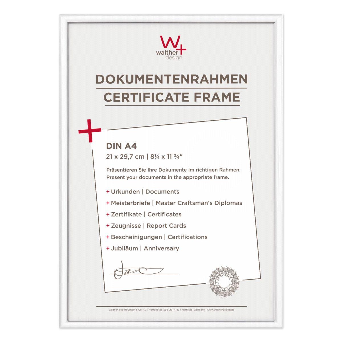 Walther Bilderrahmen »New Lifestyle 21x29,7 Kunststoff DIN A4 KV130W«