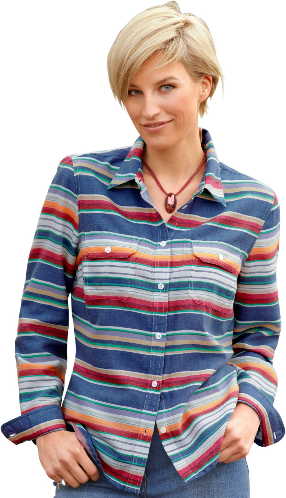 Collection L. Bluse aus reiner Baumwolle