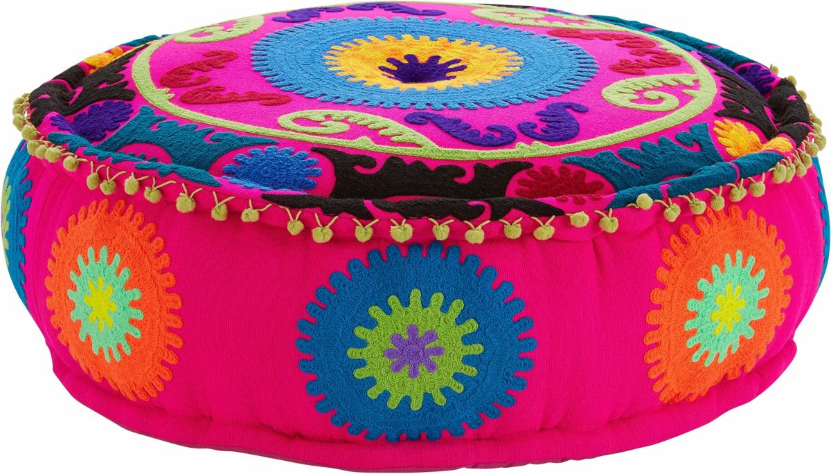 Home affaire Sitz-Pouf im Hippie-Look