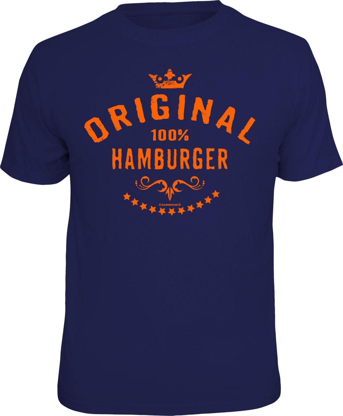 Rahmenlos T-Shirt »Original 100% Hamburger«