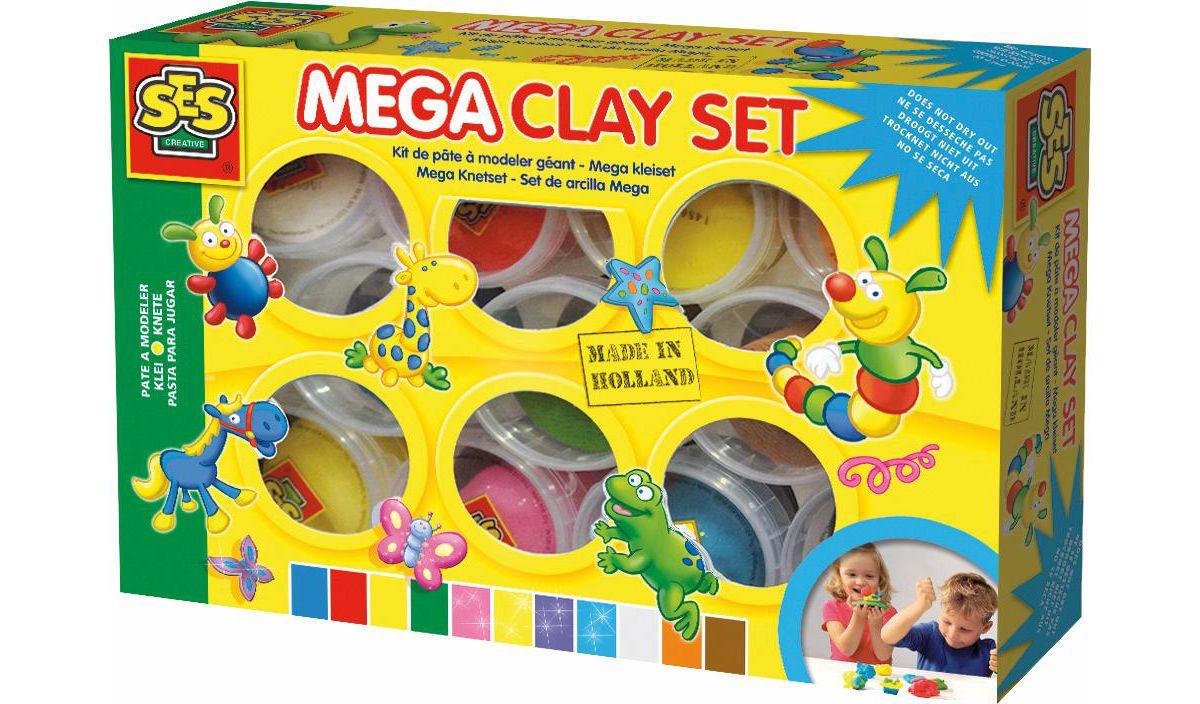 SES Creative Knete, »Mega Knetset 11 Farben«