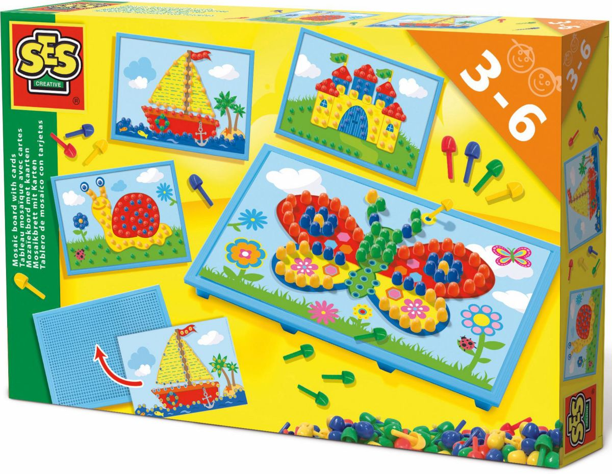 SES Creative Bastelset, »Mosaikbrett mit Karten«