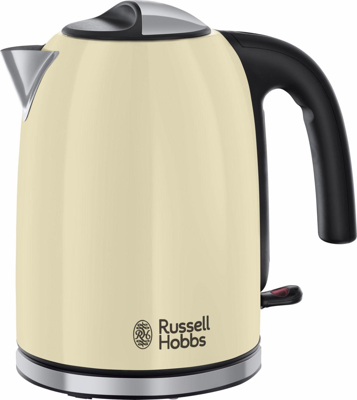 Russell Hobbs Wasserkocher Colours Plus+ Classic Cream 20415-70, 1,7 Liter, 2400 Watt, Edelstahl