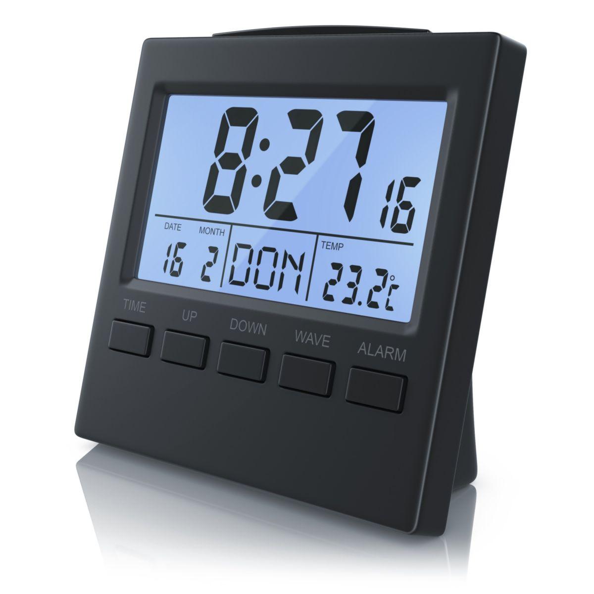 Bearware Digital-Funkwecker mit Innen-Temperaturanzeige »DCF-Funkuhr / Datums & Wochentagsanzeige«