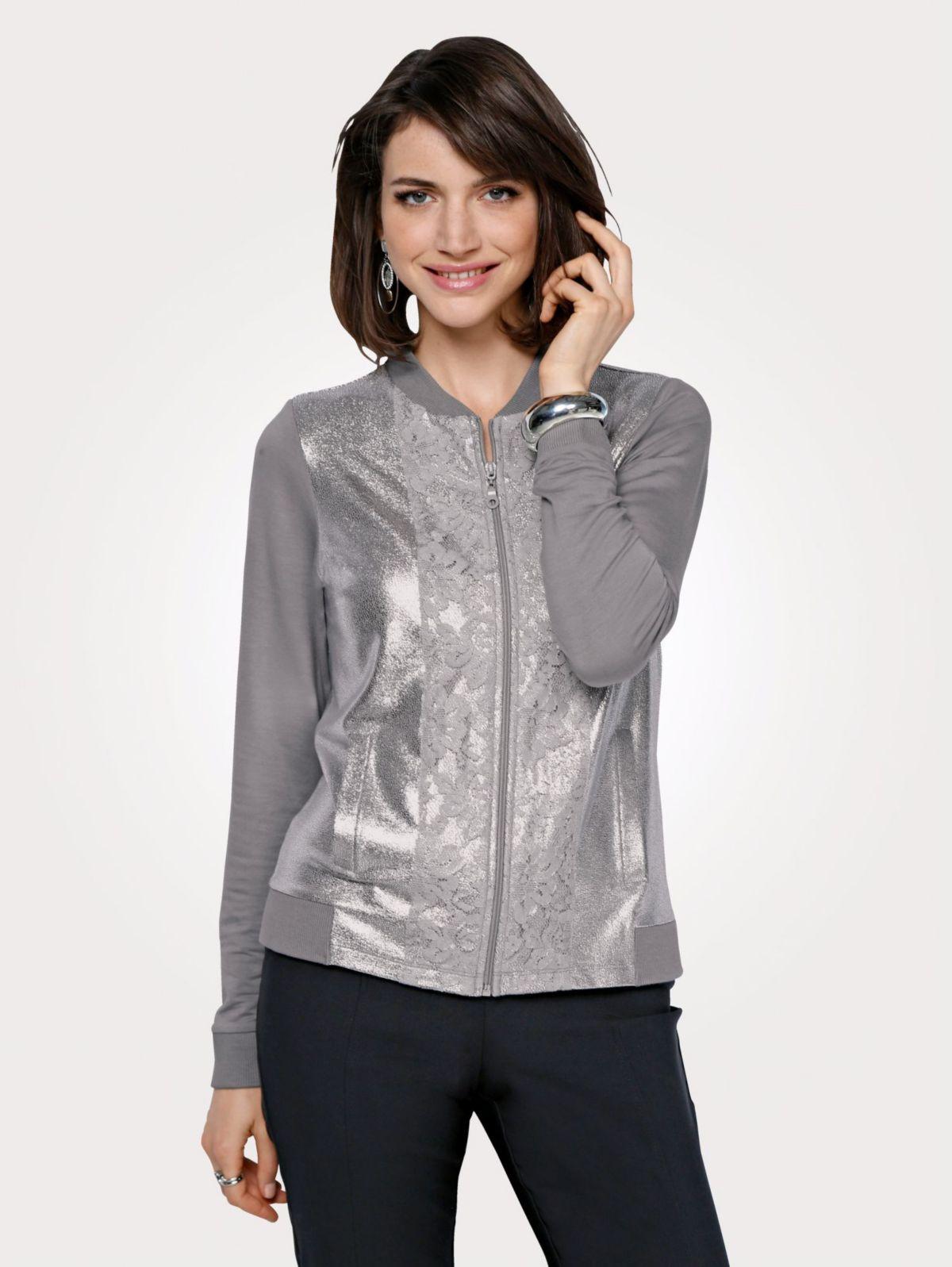 Mona Shirtjacke mit Glanzdruck