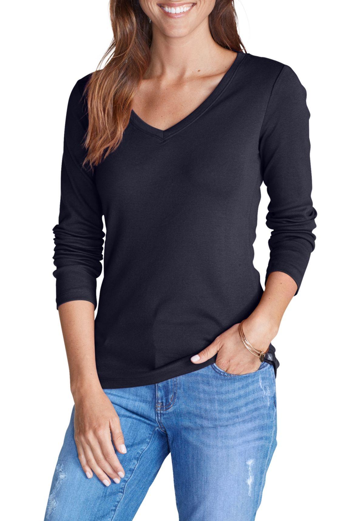 Eddie Bauer Favorite Shirt - Langarm mit V-Auss...