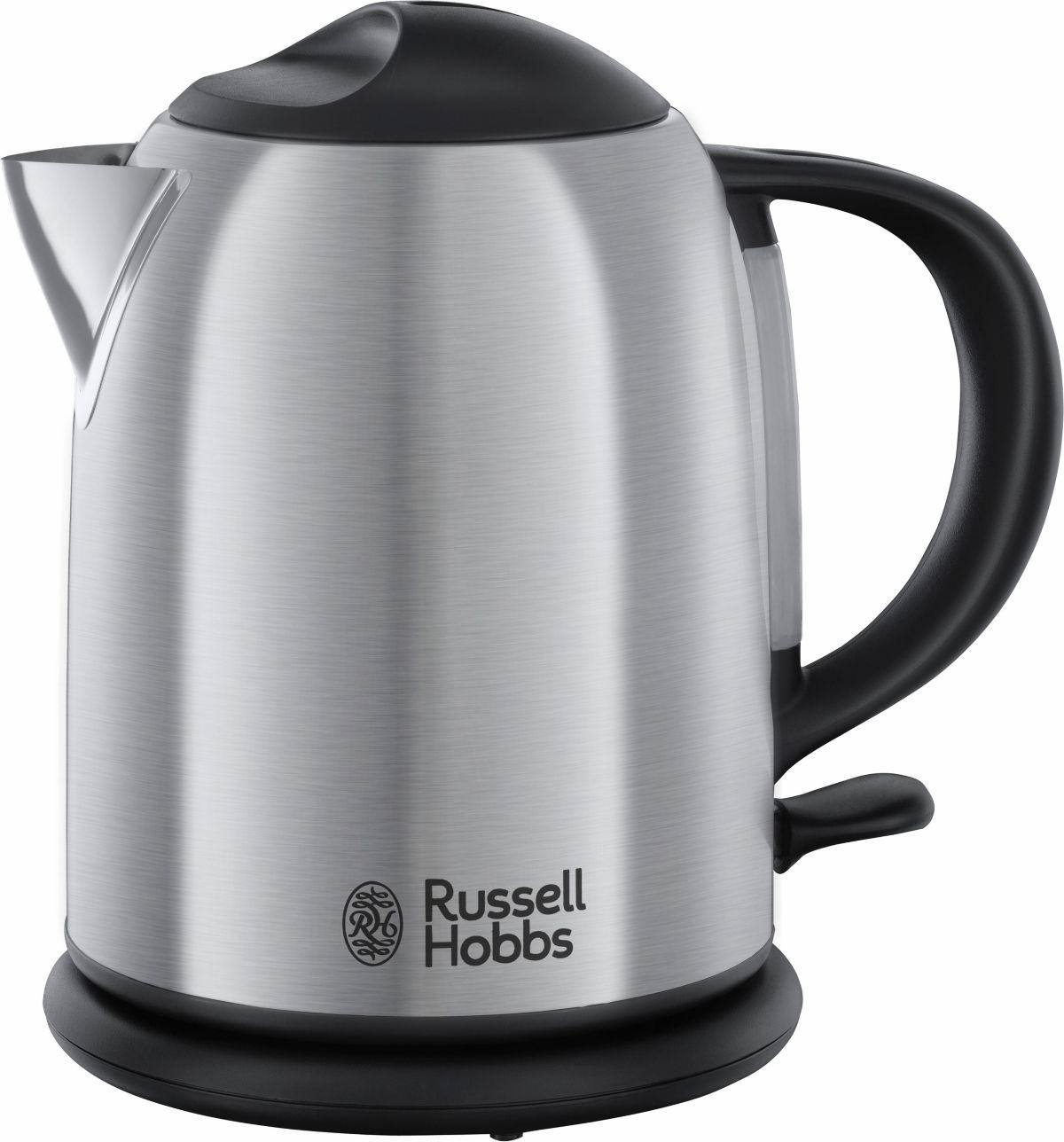 Russell Hobbs Kompakt- Wasserkocher Oxford 20195-70, 1 Liter, 2200 Watt, Edelstahl gebürstet
