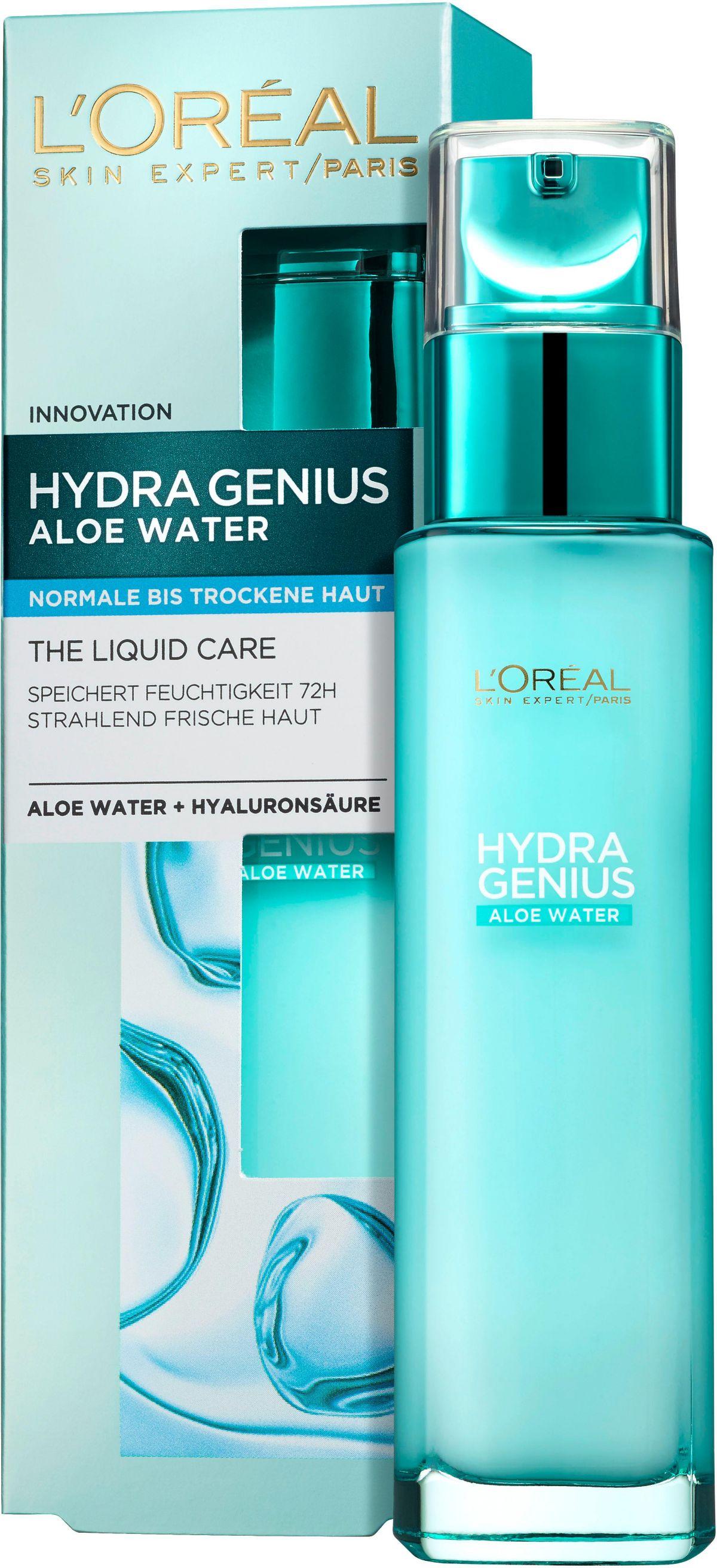 L´Oréal Paris, »Hydra Genius Aloe Aqua Feuchtigkeitsfluid«, Gesichtspflege für normale bis trockene Haut
