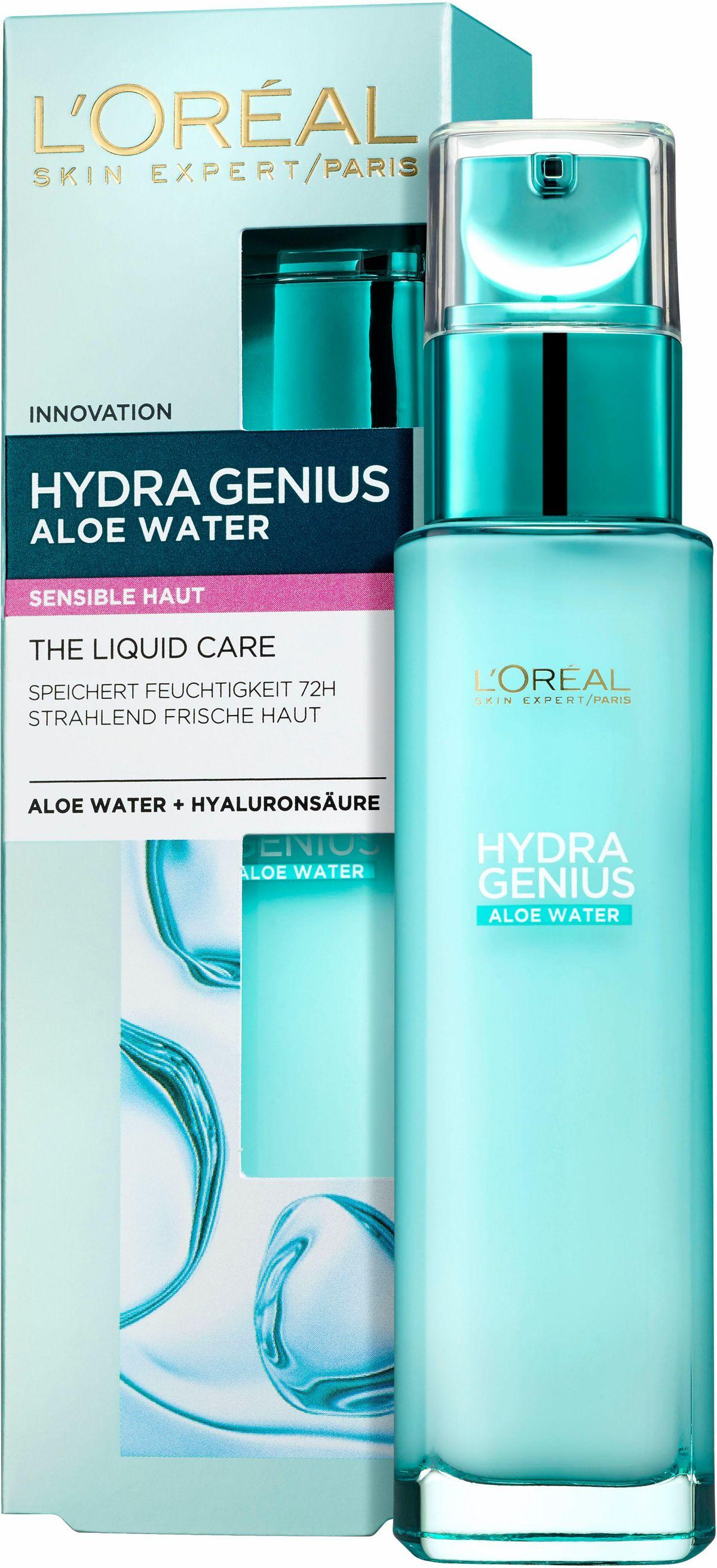 L´Oréal Paris, »Hydra Genius Aloe Aqua Feuchtigkeitsfluid«, Gesichtspflege für sensible Haut