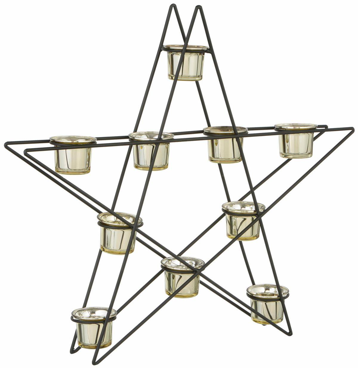 Metallkerzenhalter in Stern-Form