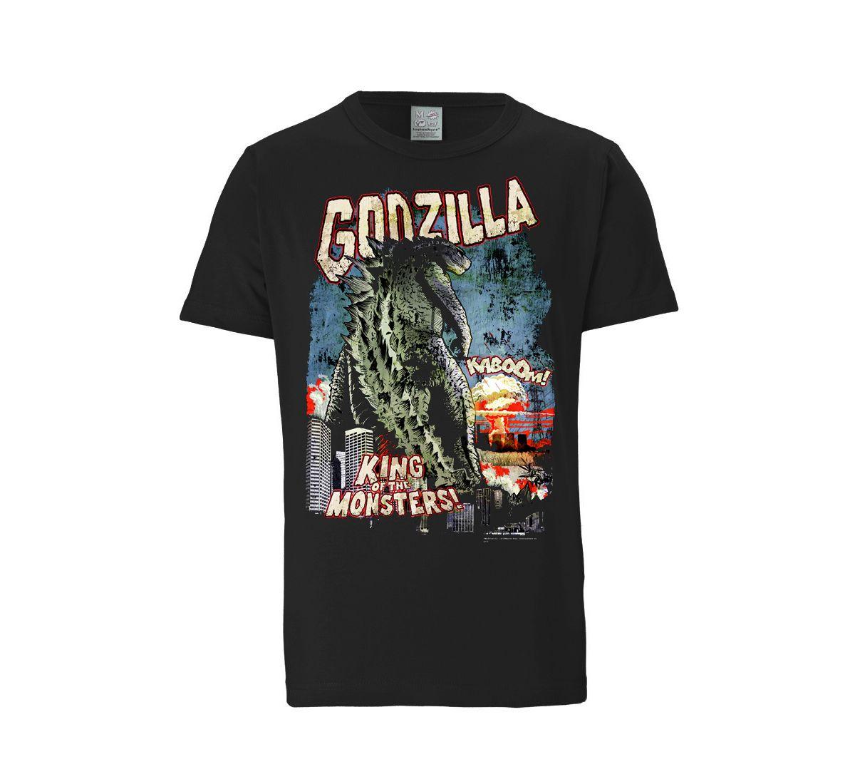 LOGOSHIRT Herrenshirt »Godzilla - King Of The M...